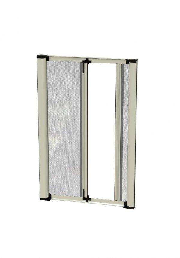 isabel 2 ante zanzariera laterale avvolgente a molla due cassonetti per grandi porta finestre