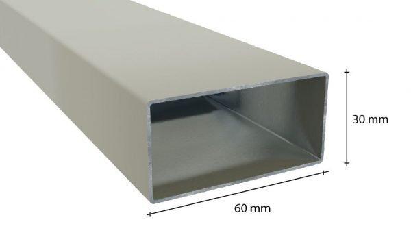 tubolare in alluminio 30x60