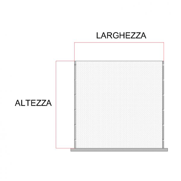 rete tagliata a misura con bottoncnini per zanzariera verticale